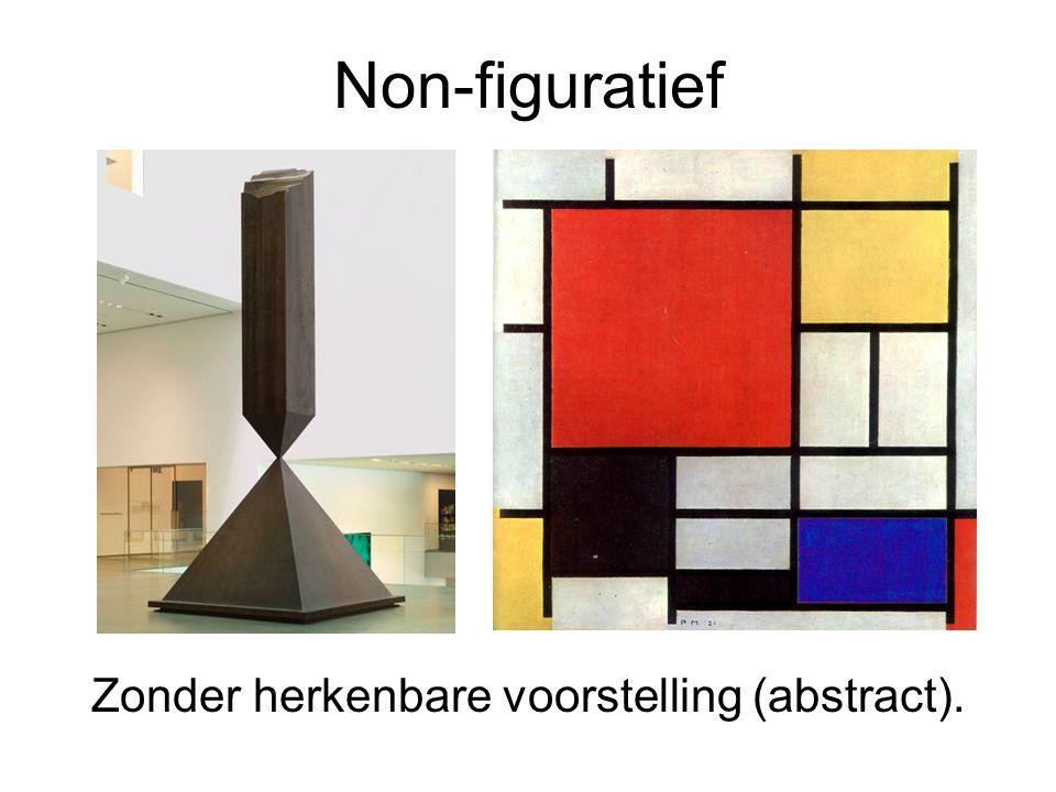 Zonder herkenbare voorstelling (abstract).