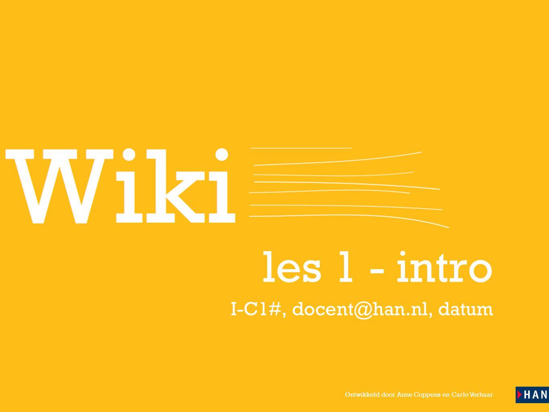 les 1 - intro I-C1#, docent@han.nl, datum