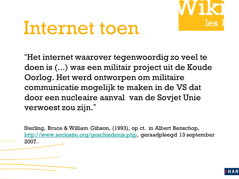 Internet toen