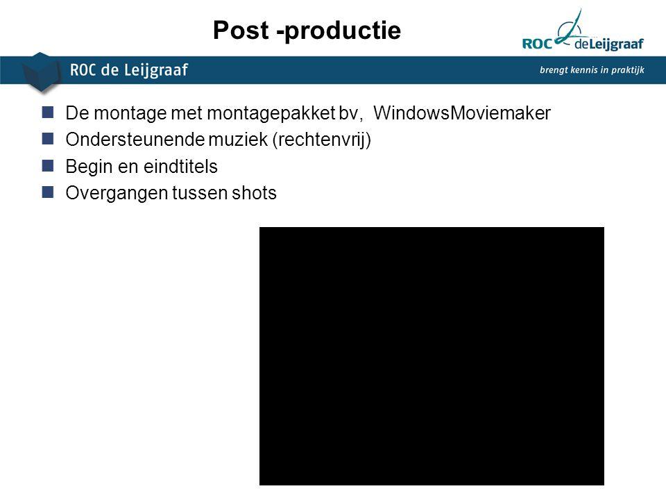 Post -productie De montage met montagepakket bv, WindowsMoviemaker
