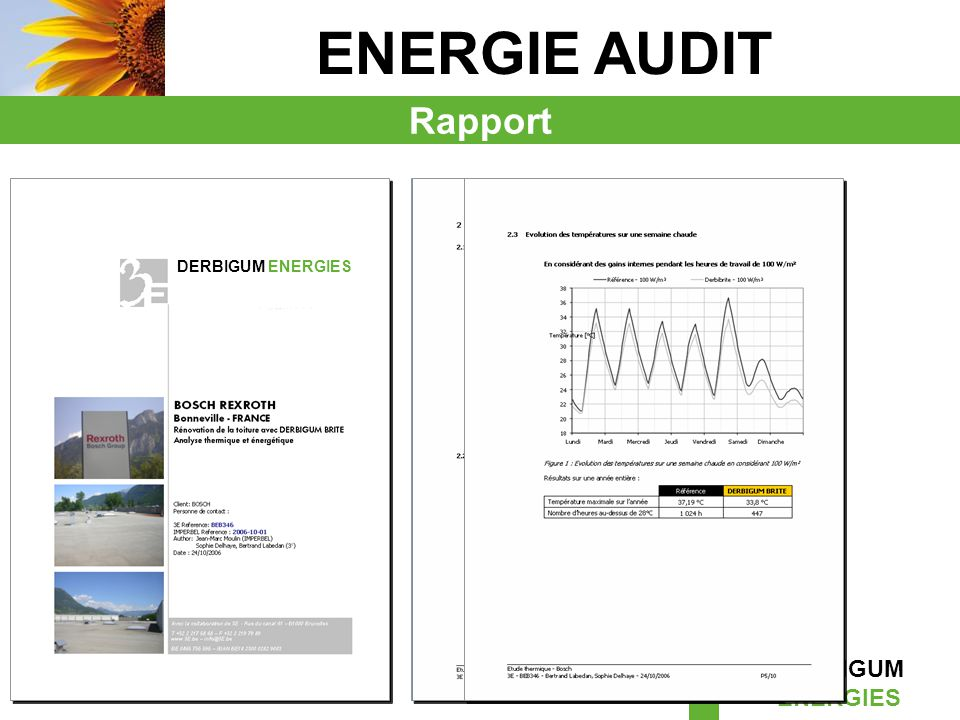 ENERGIE AUDIT Rapport DERBIGUM ENERGIES