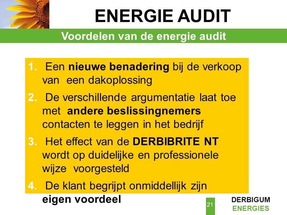 Voordelen van de energie audit