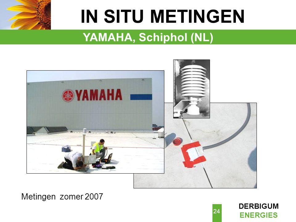 IN SITU METINGEN YAMAHA, Schiphol (NL) Metingen zomer 2007 Me