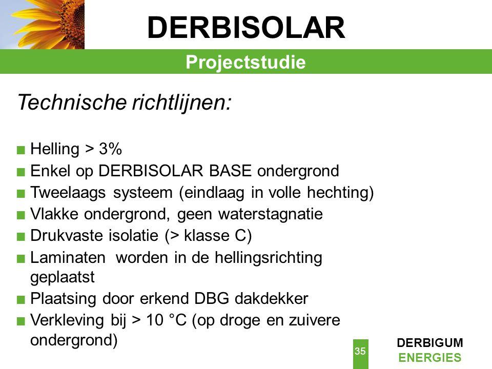 DERBISOLAR Technische richtlijnen: Projectstudie Helling > 3%