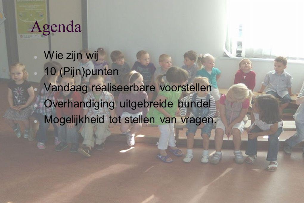 Agenda Wie zijn wij 10 (Pijn)punten Vandaag realiseerbare voorstellen