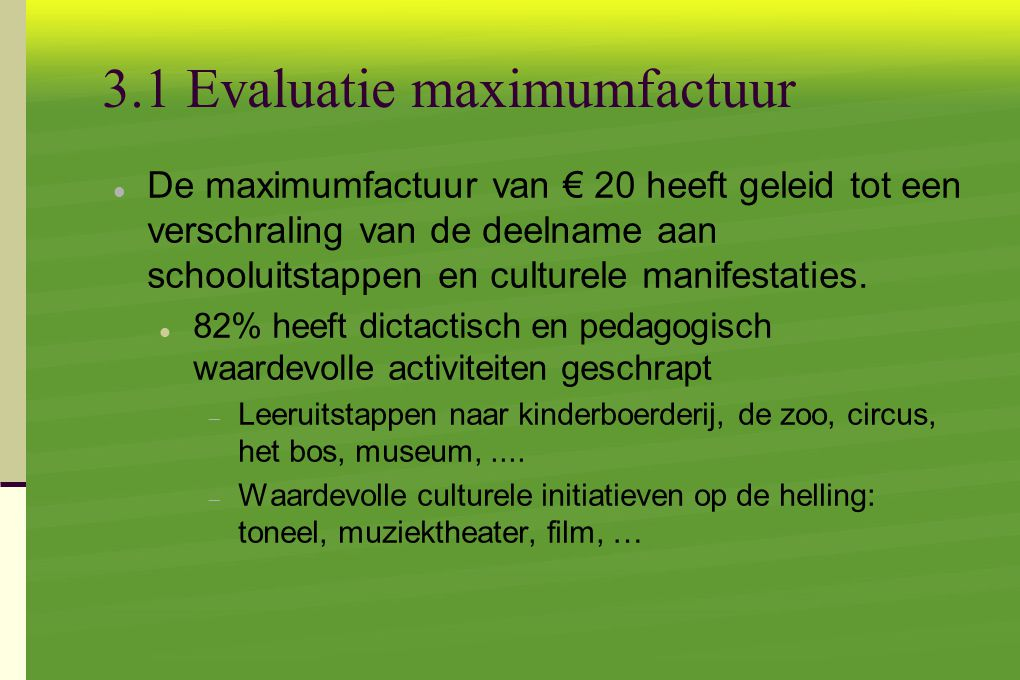 3.1 Evaluatie maximumfactuur