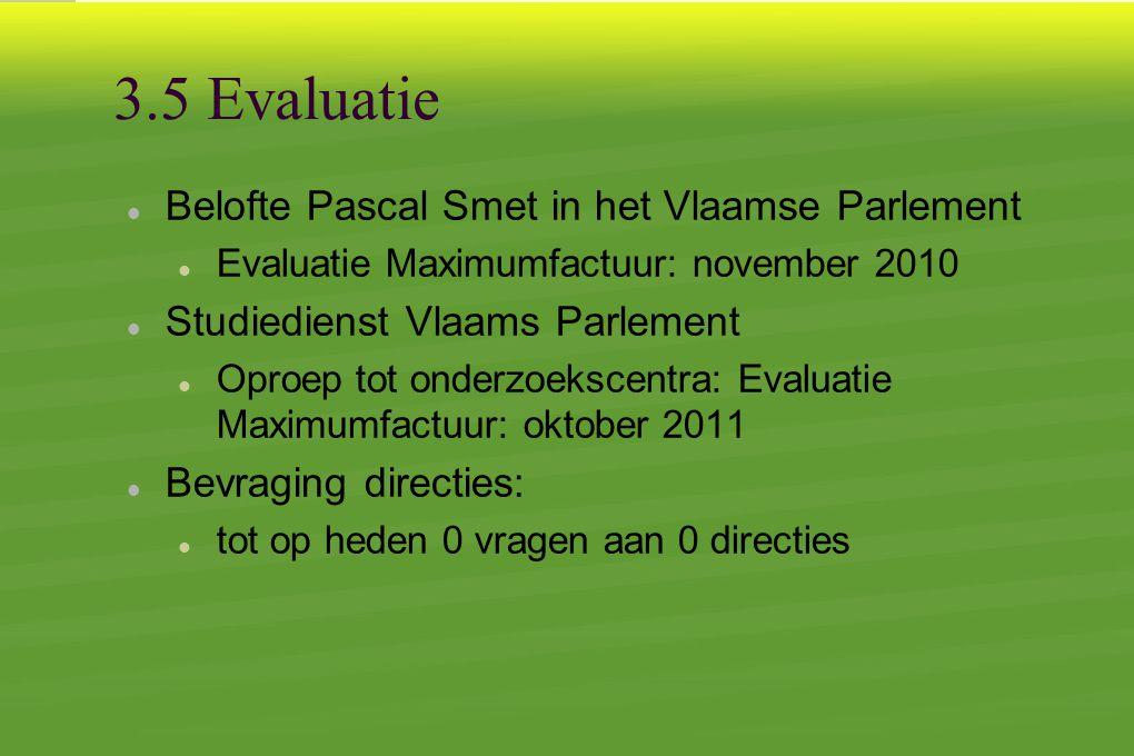 3.5 Evaluatie Belofte Pascal Smet in het Vlaamse Parlement