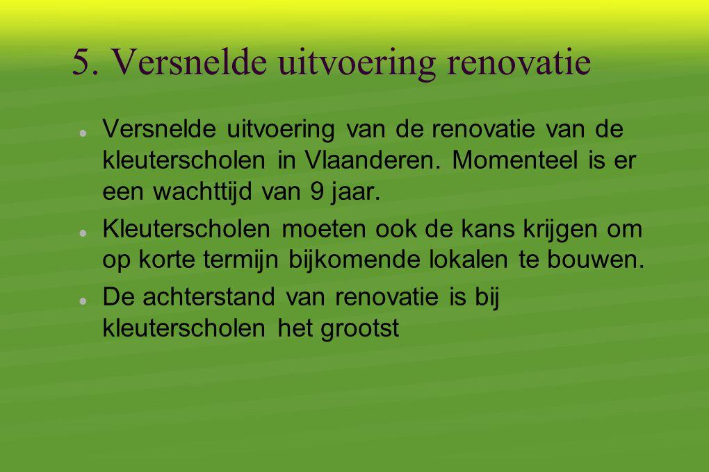 5. Versnelde uitvoering renovatie