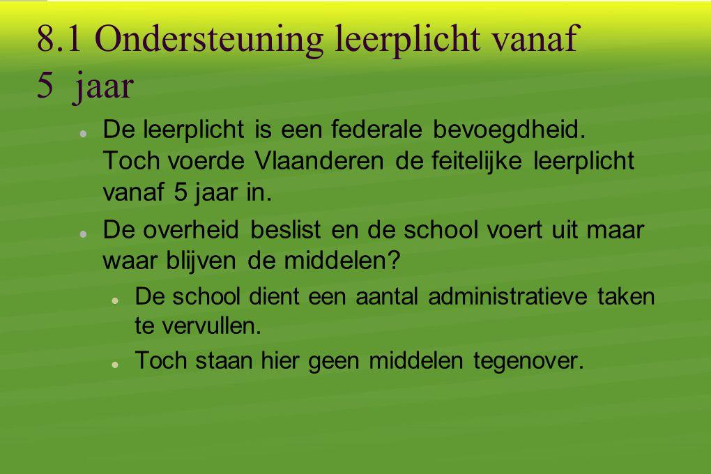 8.1 Ondersteuning leerplicht vanaf 5 jaar