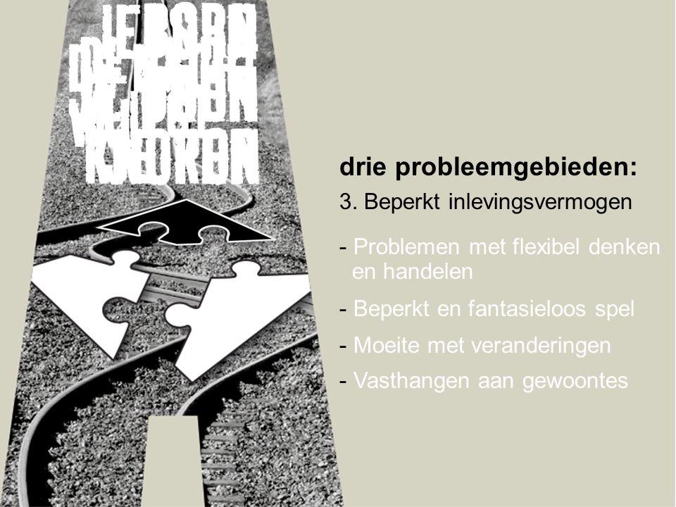 drie probleemgebieden: