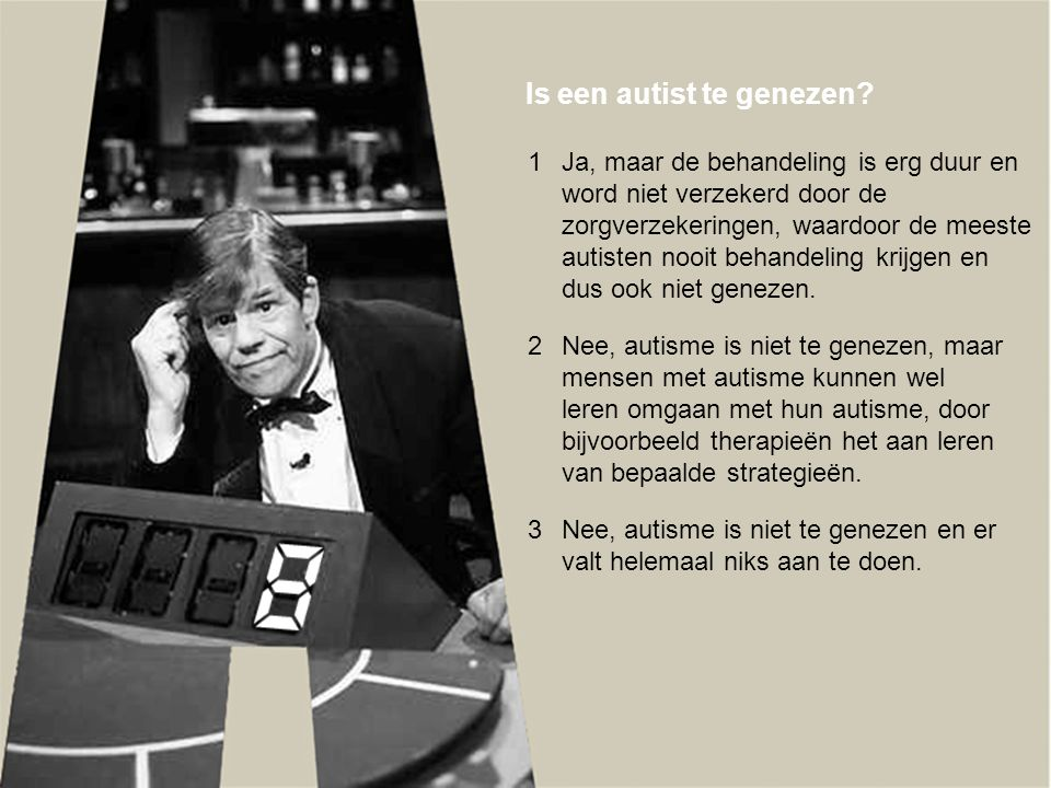 Is een autist te genezen