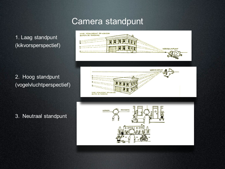 Camera standpunt 1. Laag standpunt (kikvorsperspectief)