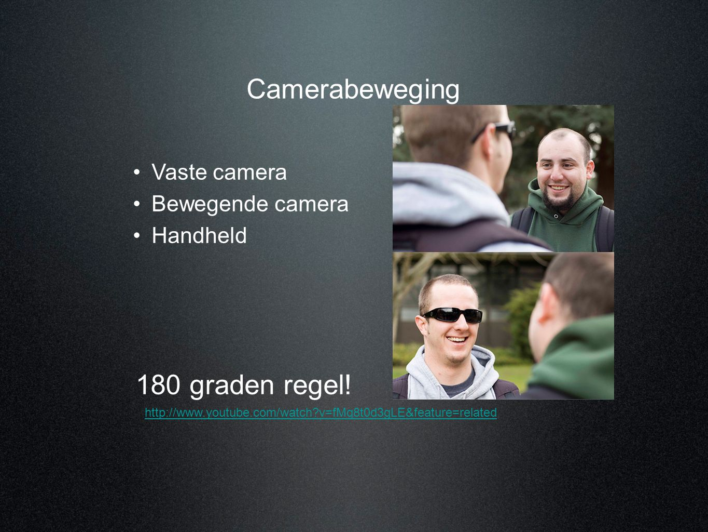 Camerabeweging 180 graden regel! Vaste camera Bewegende camera