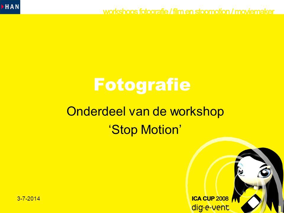 Onderdeel van de workshop 'Stop Motion'