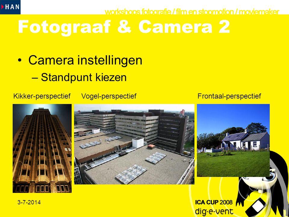 Fotograaf & Camera 2 Camera instellingen Standpunt kiezen