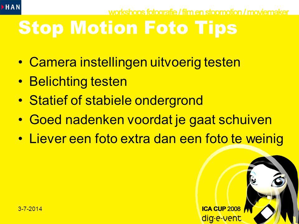 Stop Motion Foto Tips Camera instellingen uitvoerig testen