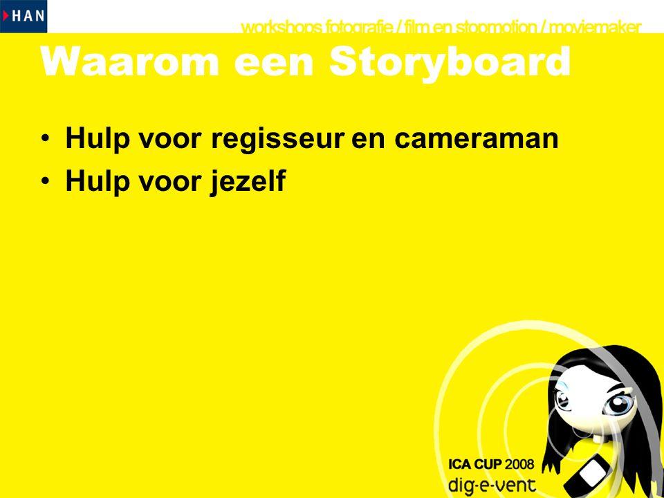 Waarom een Storyboard Hulp voor regisseur en cameraman
