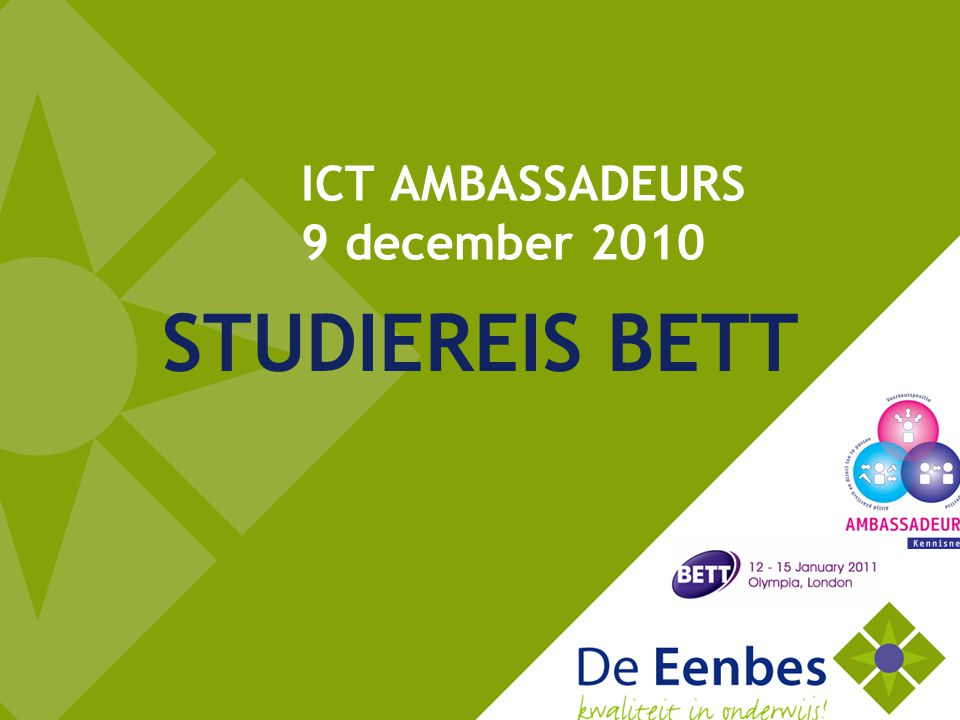 ICT AMBASSADEURS 9 december 2010