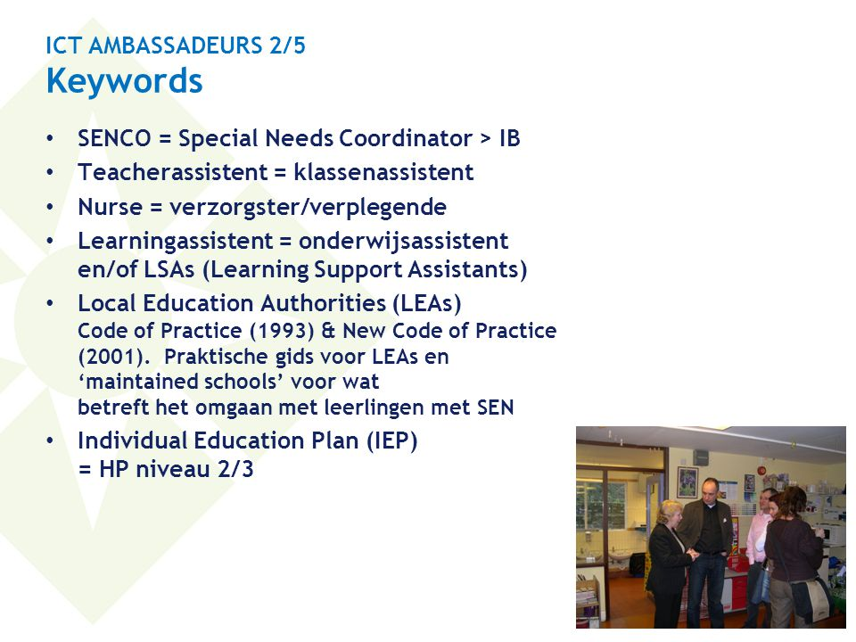 ICT AMBASSADEURS 2/5 Keywords