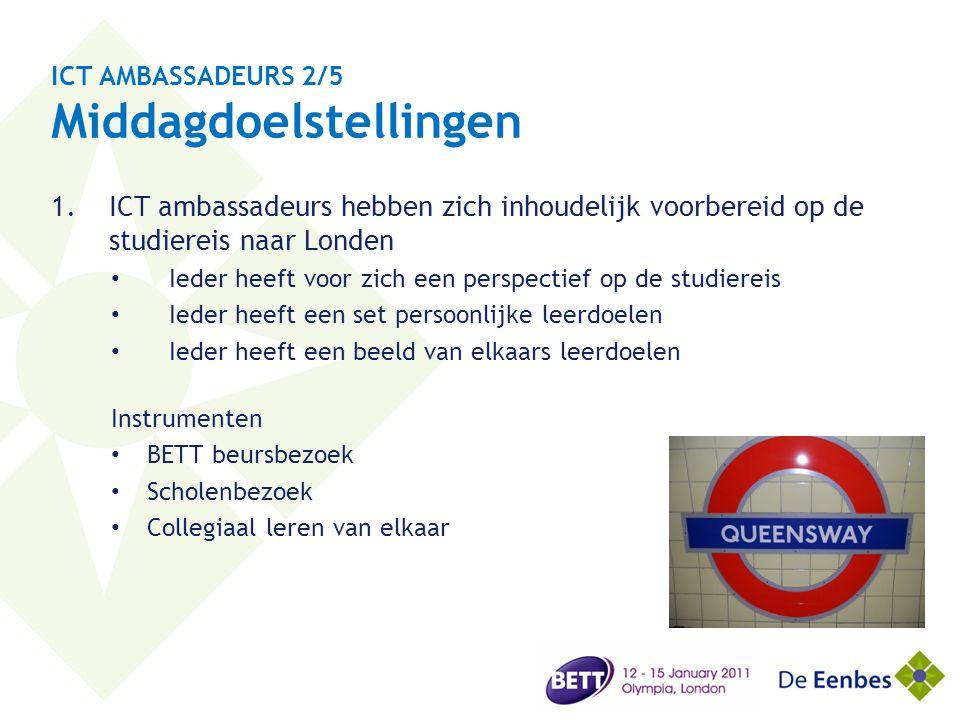 ICT AMBASSADEURS 2/5 Middagdoelstellingen
