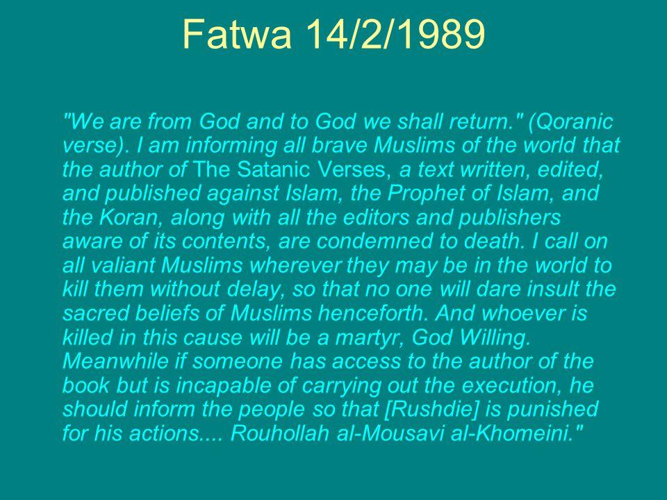 Fatwa 14/2/1989