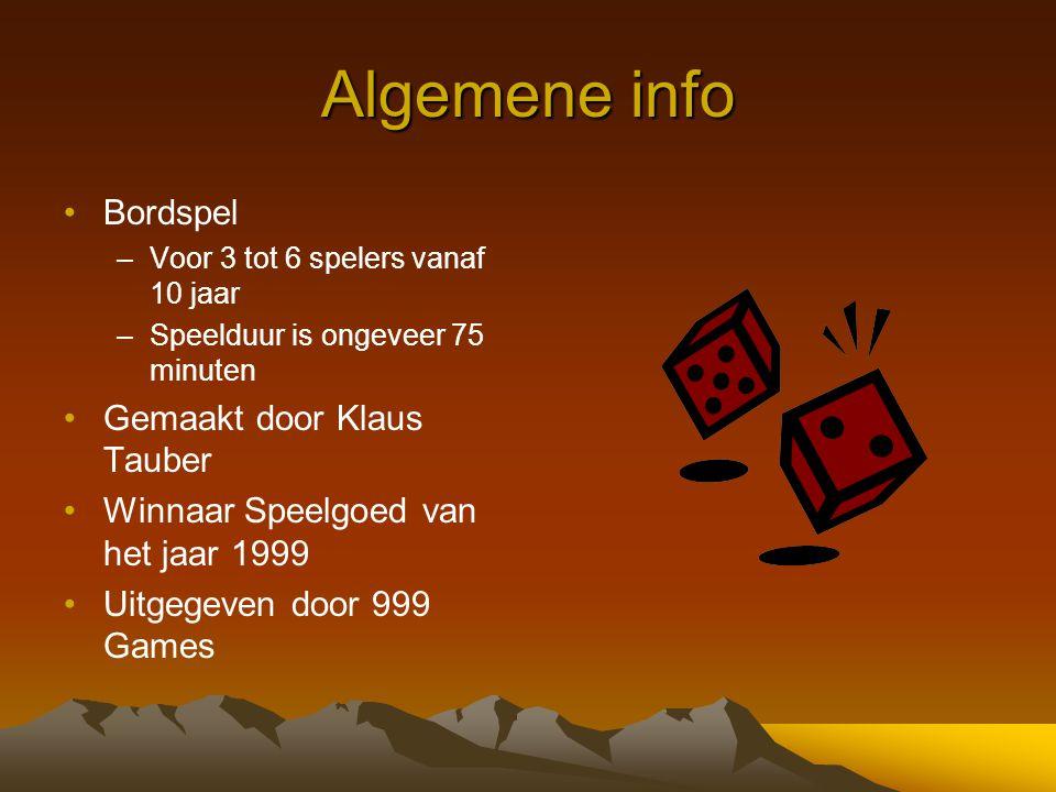 Algemene info Bordspel Gemaakt door Klaus Tauber