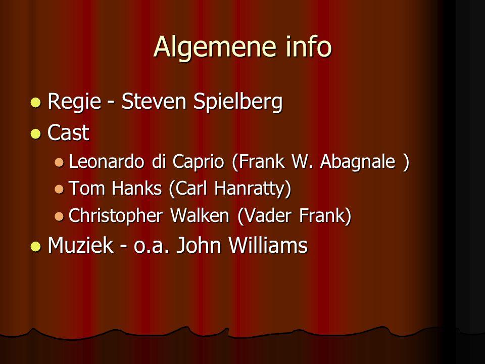 Algemene info Regie - Steven Spielberg Cast