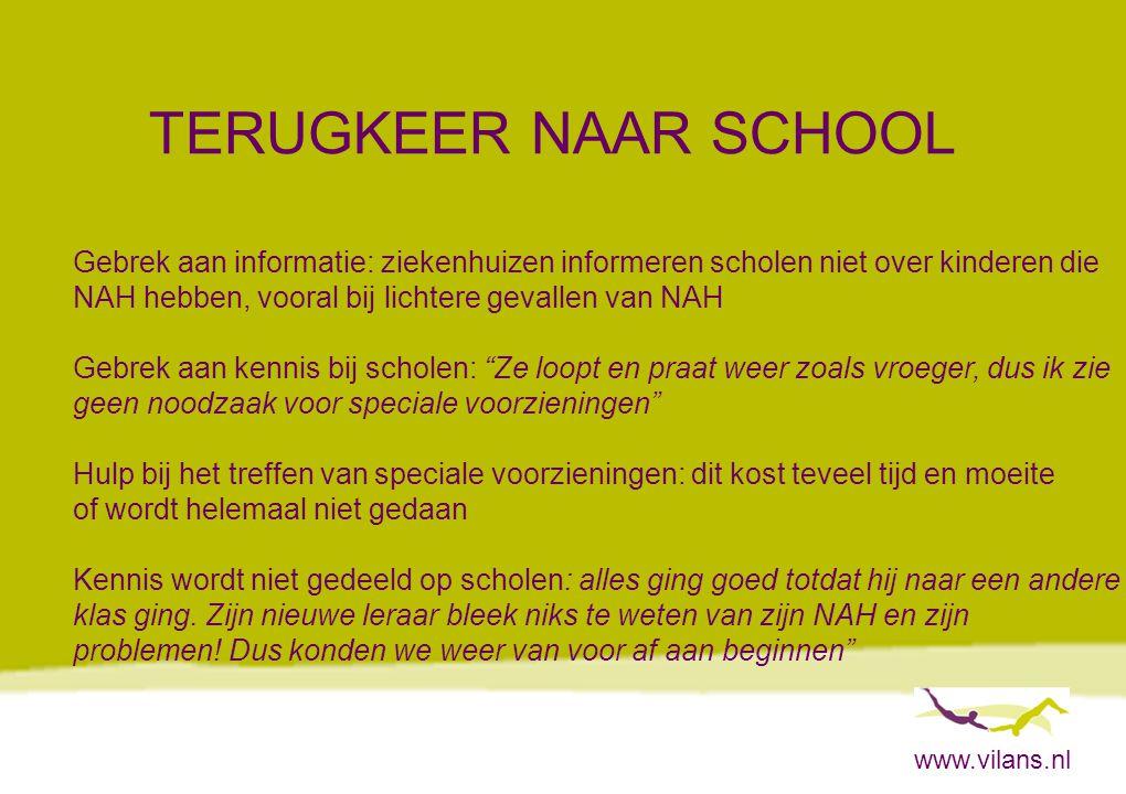TERUGKEER NAAR SCHOOL Gebrek aan informatie: ziekenhuizen informeren scholen niet over kinderen die.