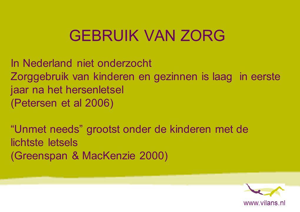 GEBRUIK VAN ZORG In Nederland niet onderzocht