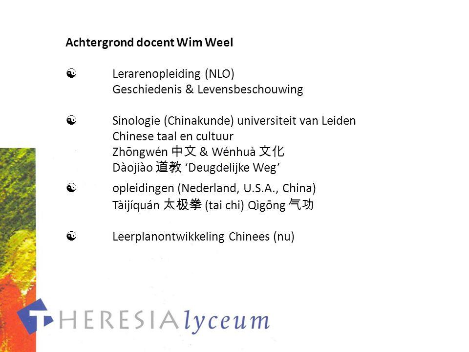 Achtergrond docent Wim Weel