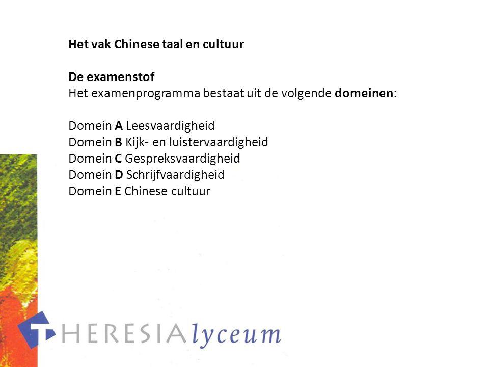 Het vak Chinese taal en cultuur