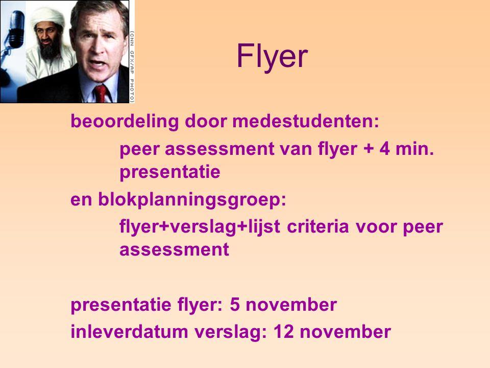 Flyer beoordeling door medestudenten: