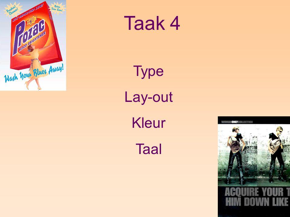 Taak 4 Type Lay-out Kleur Taal