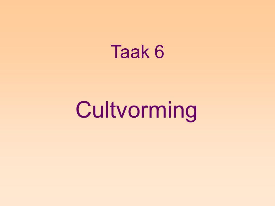 Taak 6 Cultvorming