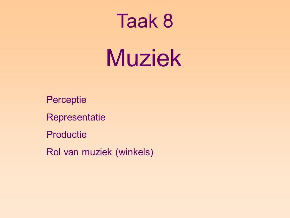 Muziek Taak 8 Perceptie Representatie Productie