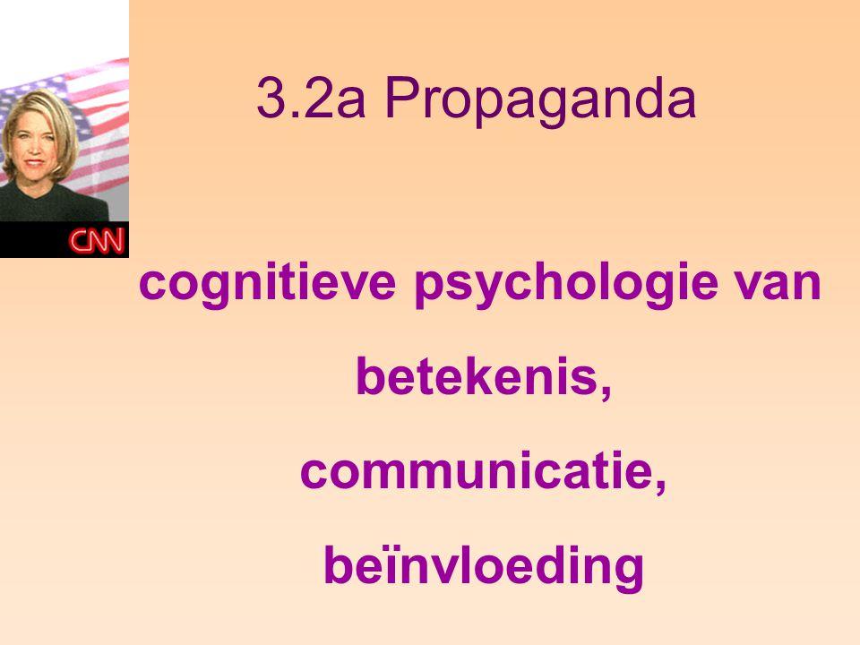 3.2a Propaganda cognitieve psychologie van betekenis, communicatie,
