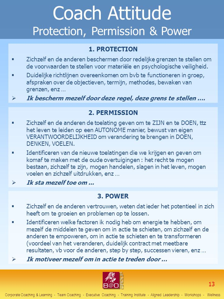 Coach Attitude Protection, Permission & Power