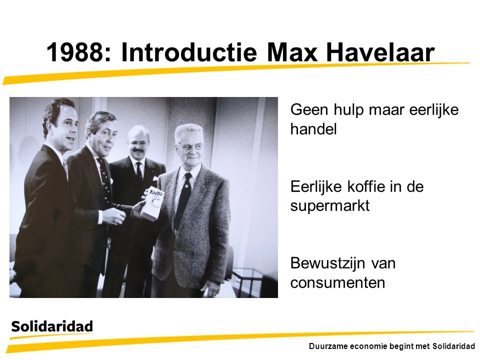 1988: Introductie Max Havelaar