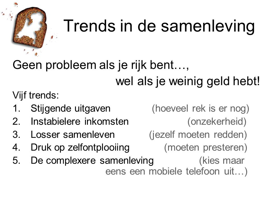 Trends in de samenleving