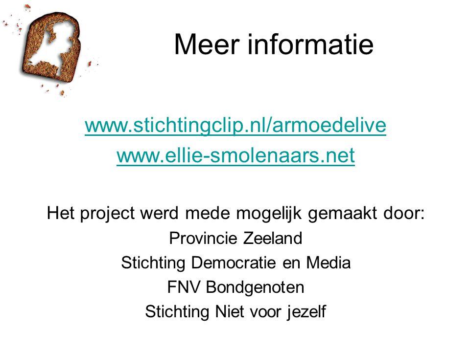 Meer informatie www.stichtingclip.nl/armoedelive