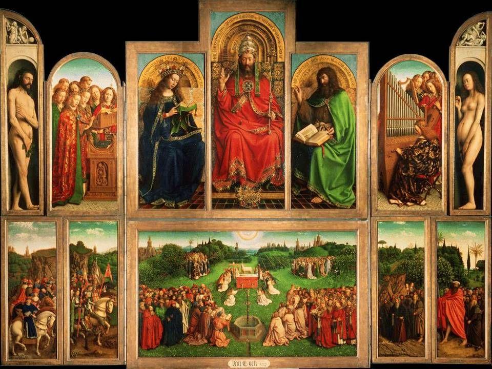 Lam Gods, Hubert en Jan van Eyck 1432, altaarstuk St