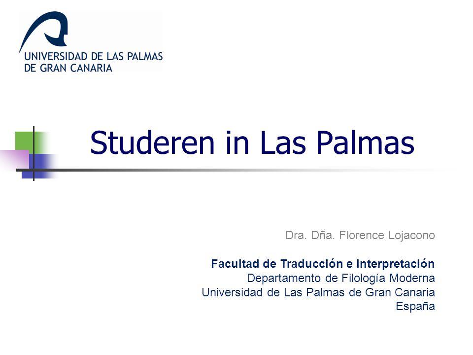 Studeren in Las Palmas Dra. Dña. Florence Lojacono