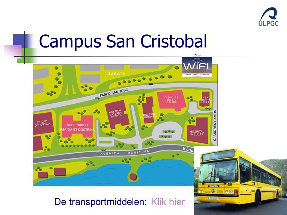 Campus San Cristobal De transportmiddelen: Klik hier