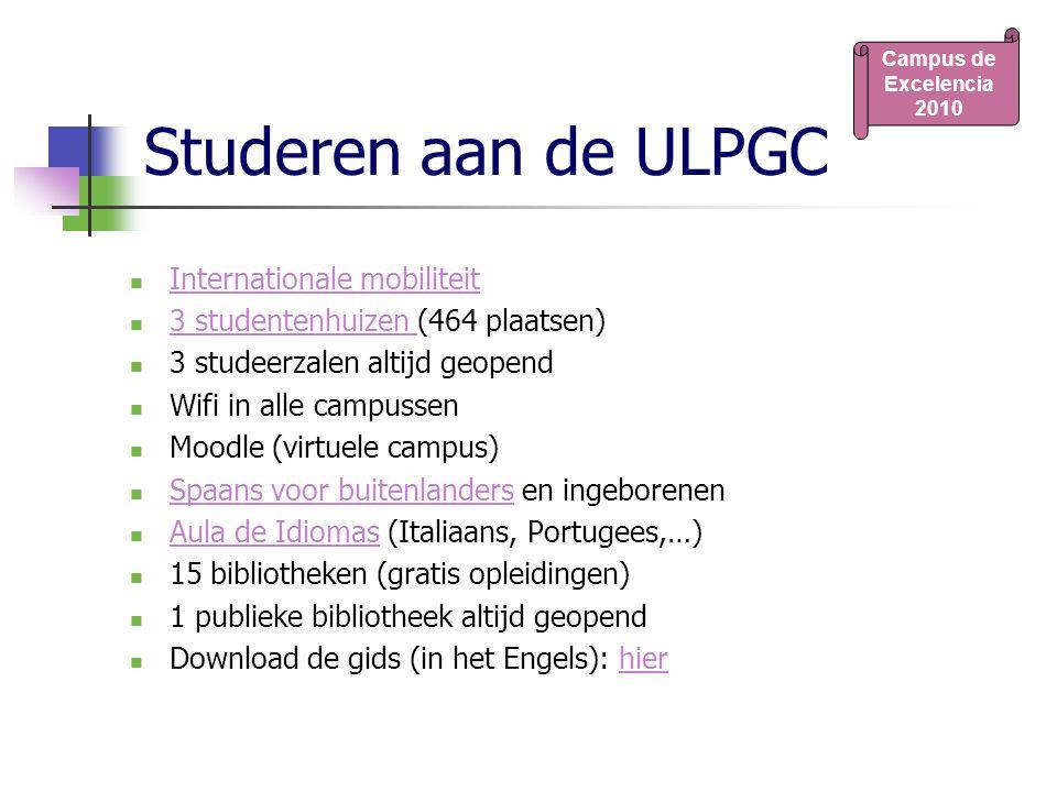 Studeren aan de ULPGC Internationale mobiliteit