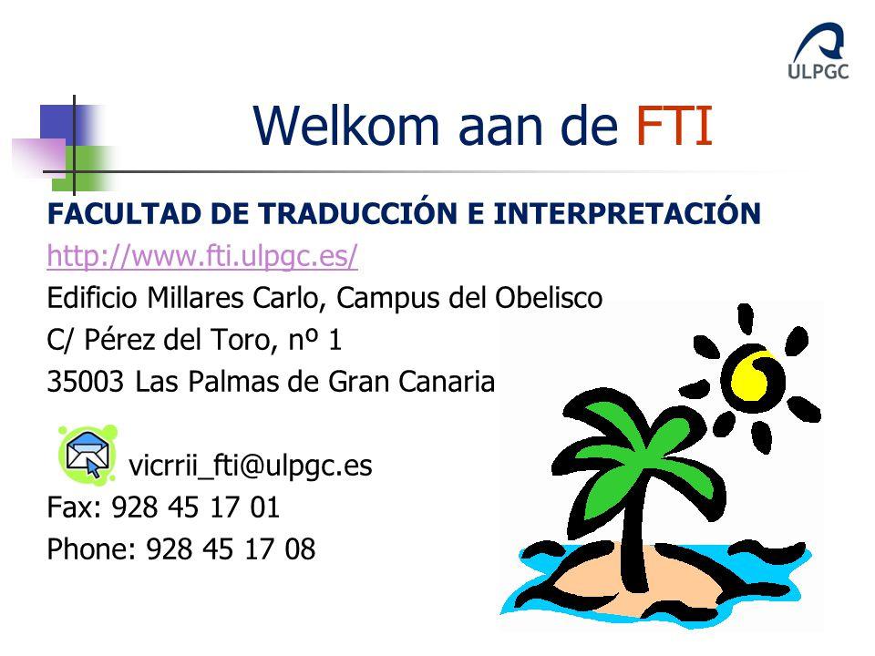 Welkom aan de FTI