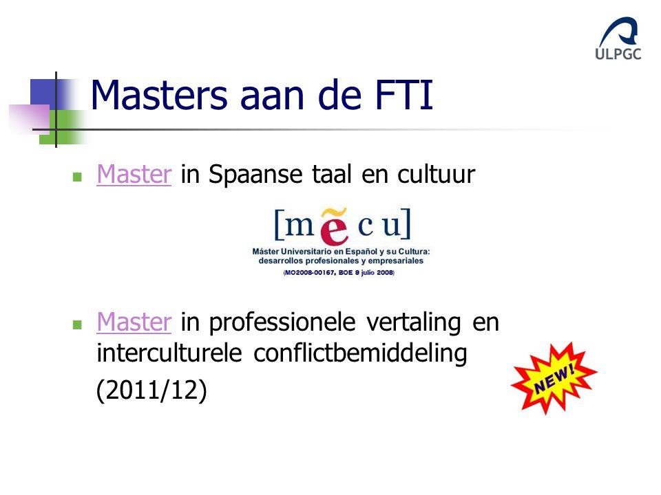 Masters aan de FTI Master in Spaanse taal en cultuur