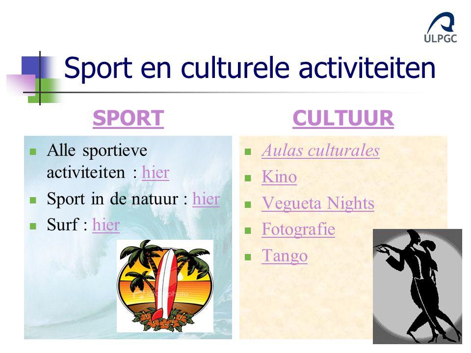 Sport en culturele activiteiten