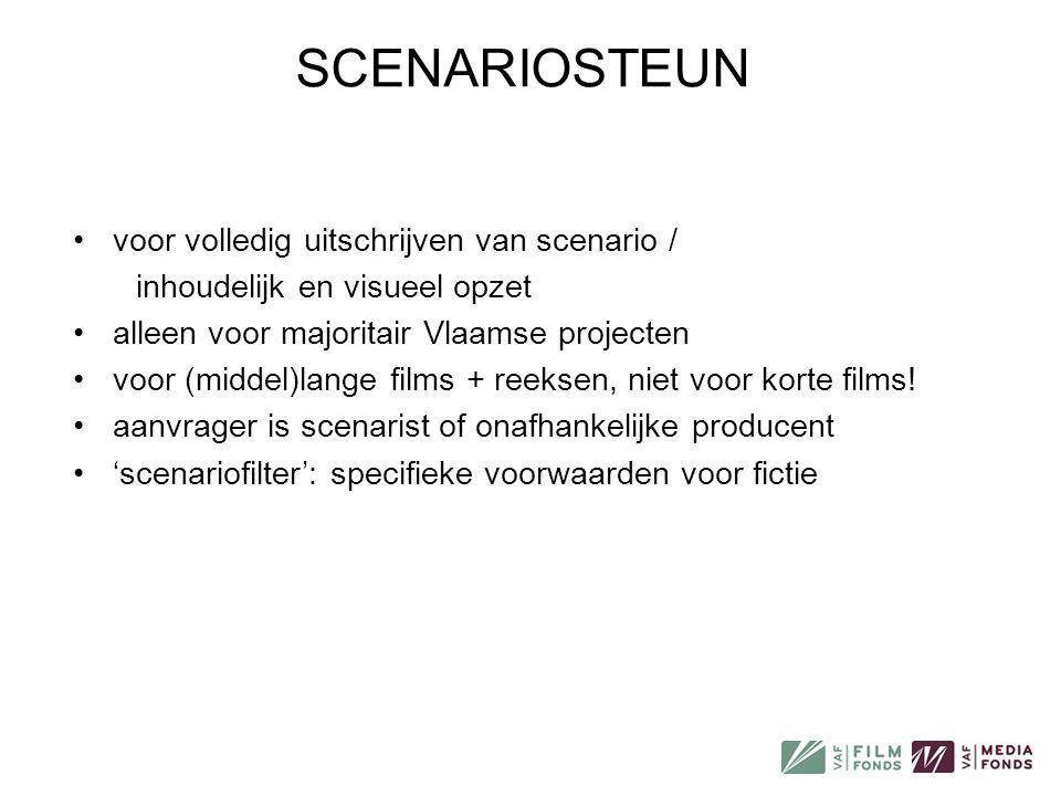 SCENARIOSTEUN voor volledig uitschrijven van scenario /