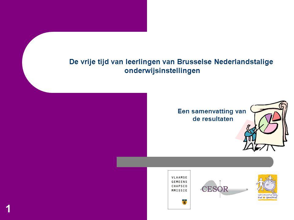 De vrije tijd van leerlingen van Brusselse Nederlandstalige onderwijsinstellingen