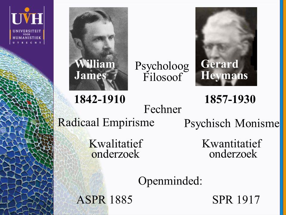 Psycholoog Filosoof William James Gerard Heymans 1842-1910 1857-1930